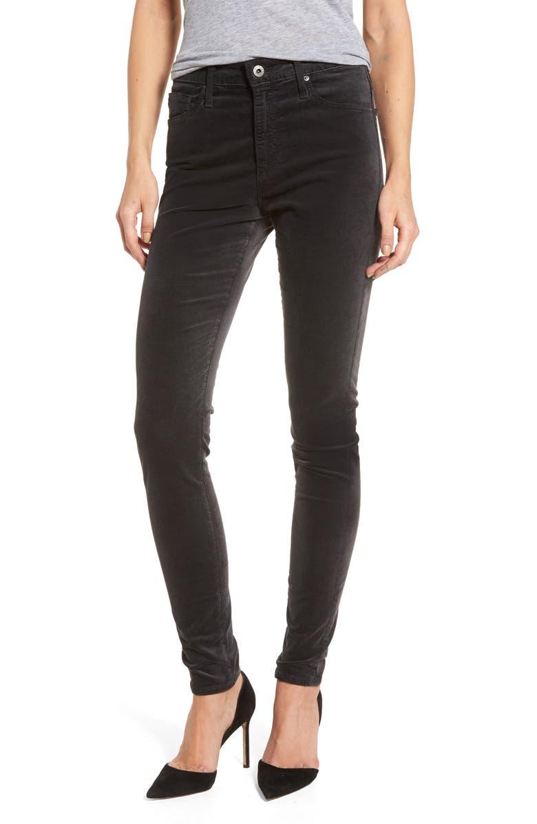 AG The Farrah High Waist Velvet Jeans, Main, color, 023