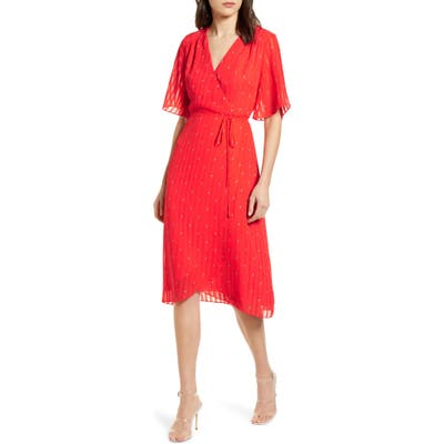 Cupcakes And Cashmere Muholland Wrap Dress, Coral