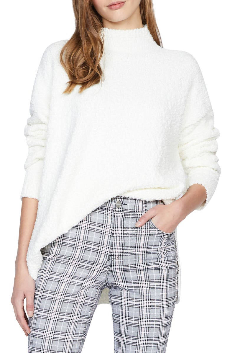 SANCTUARY Teddy Mock Neck Sweater, Main, color, 100