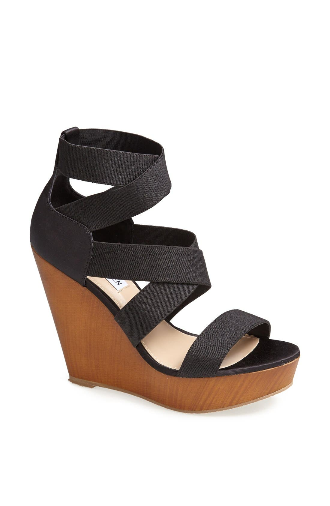 'Val' Wedge Sandal, Main, color, 001