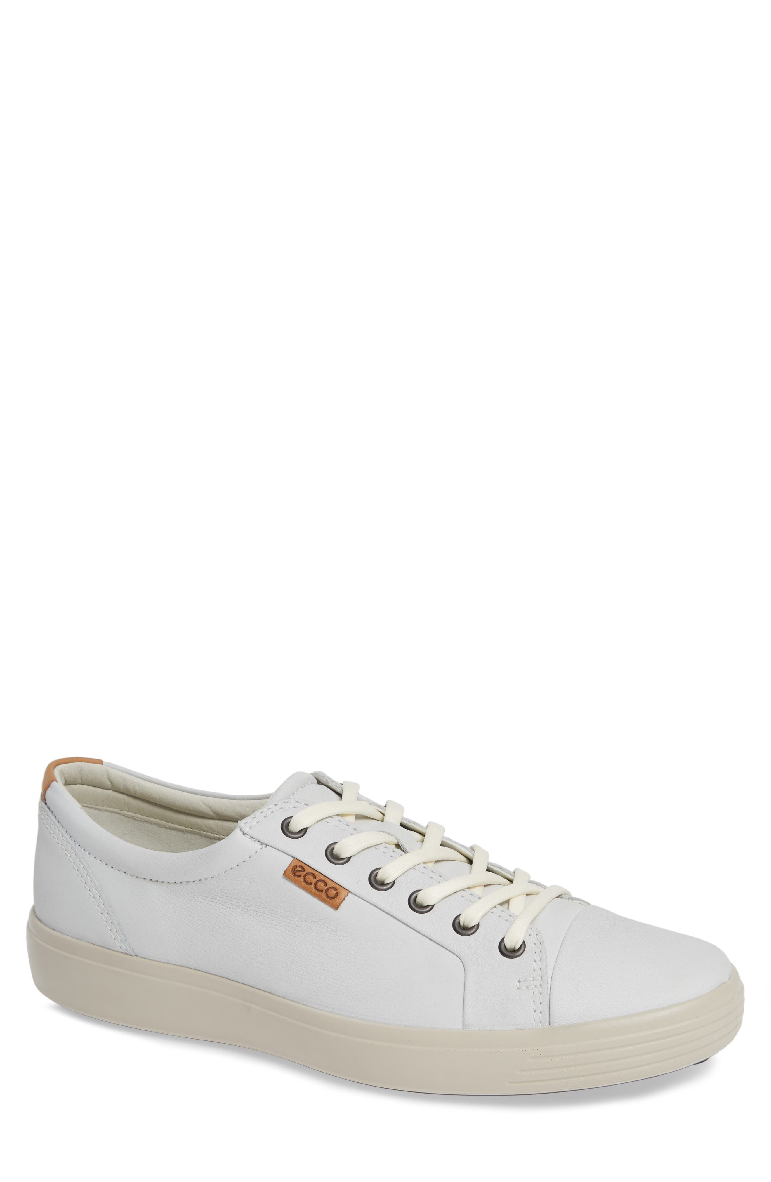 ,                             Soft VII Lace-Up Sneaker,                             Main thumbnail 1, color,                             WHITE LEATHER