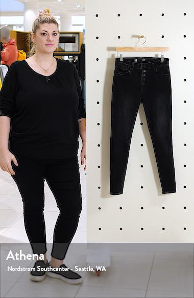 Donna High Waist Button Fly Jeans, sales video thumbnail