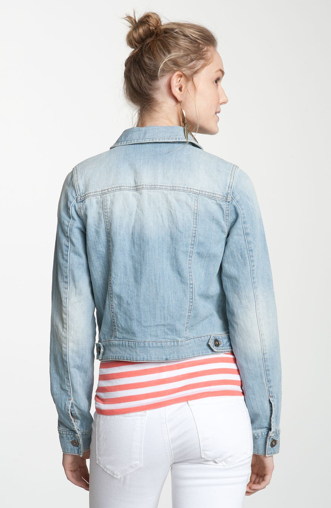 ,                             Basic Denim Jacket,                             Alternate thumbnail 7, color,                             401
