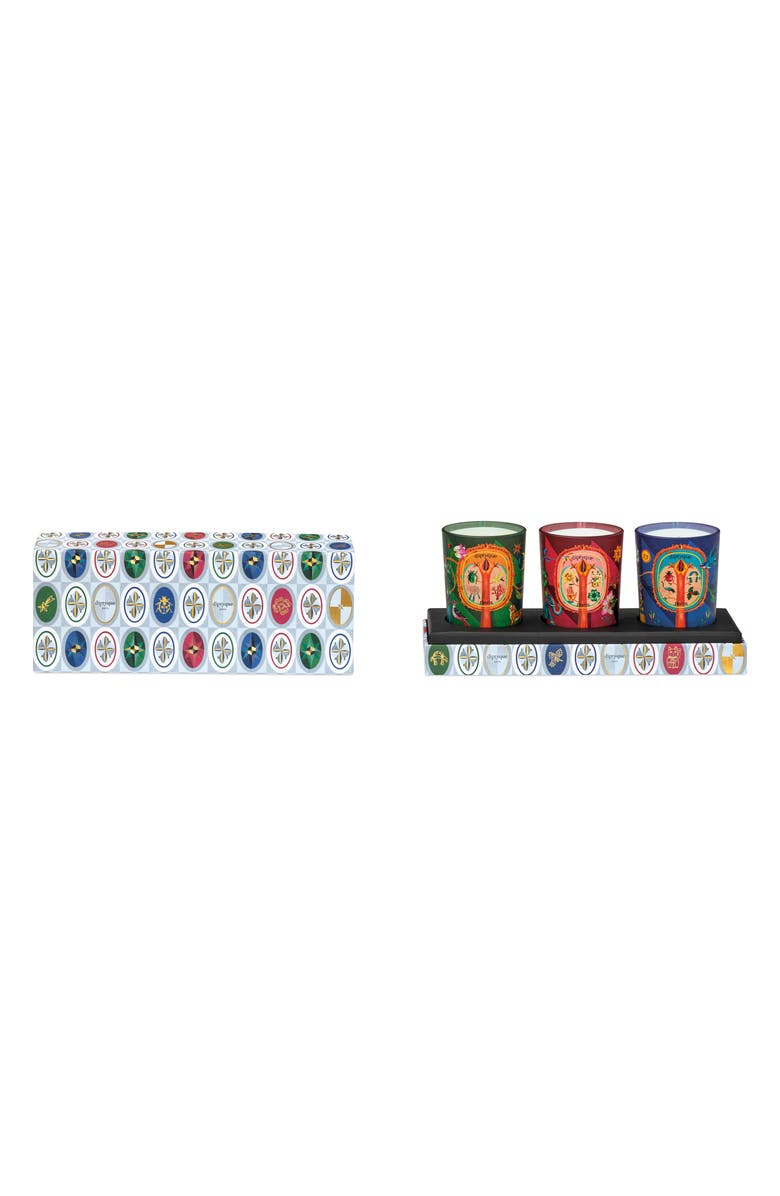 DIPTYQUE Lucky Flowers, Protective Pine & Blissful Amber Candle Set, Main, color, NO COLOR