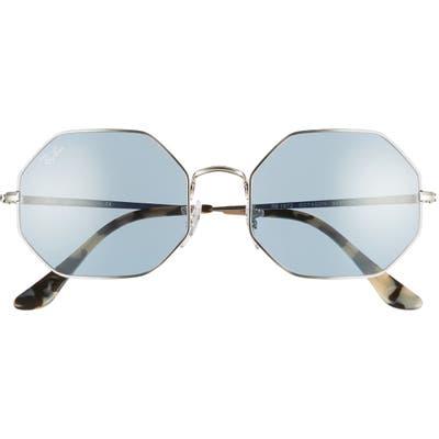 Ray-Ban 1972 5m Octagon Sunglasses - Silver/ Azure Mirror Blue