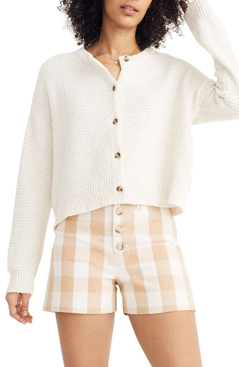 MADEWELL Deville Cardigan Sweater, Main, color, CLOUD LINING