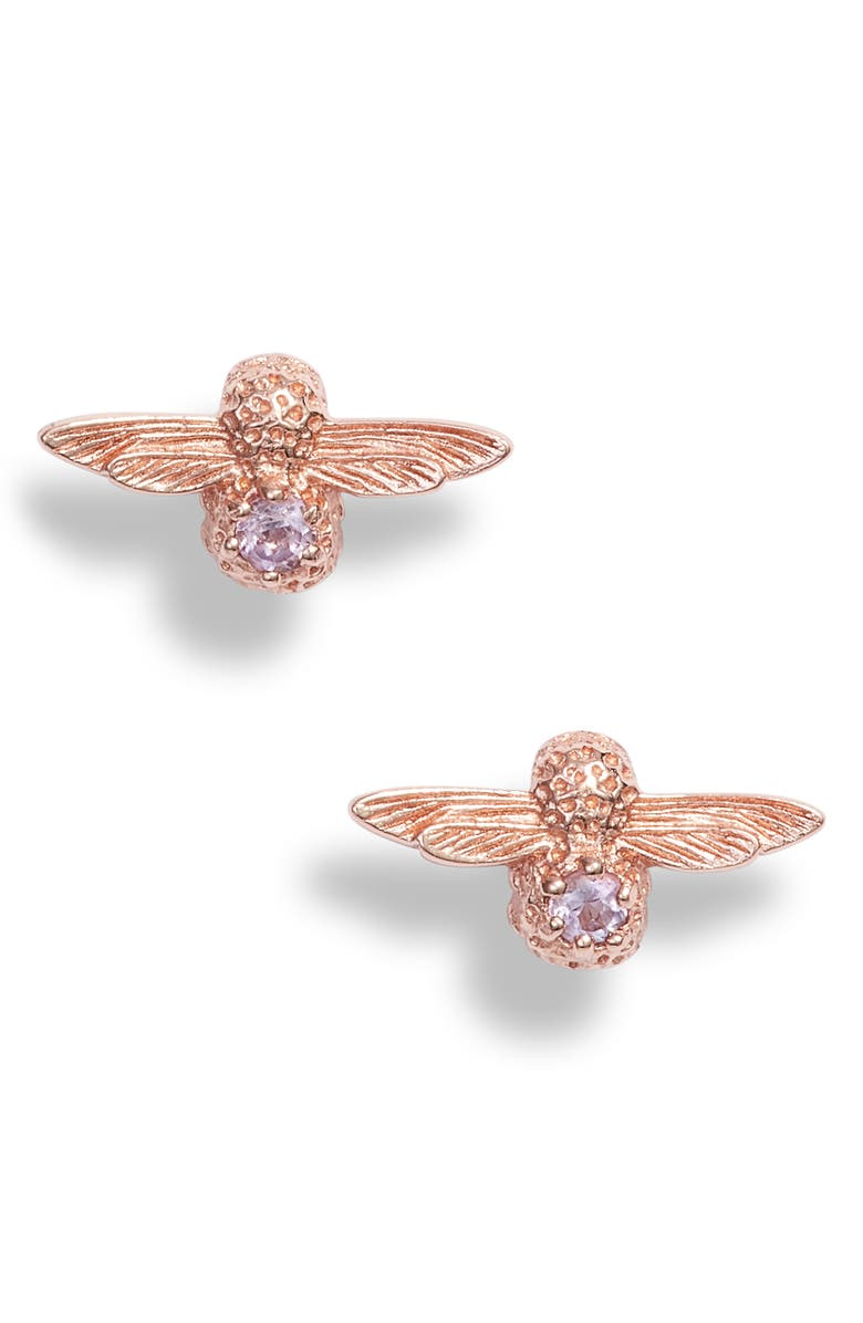 OLIVIA BURTON Bejewelled Bee Earrings, Main, color, 650