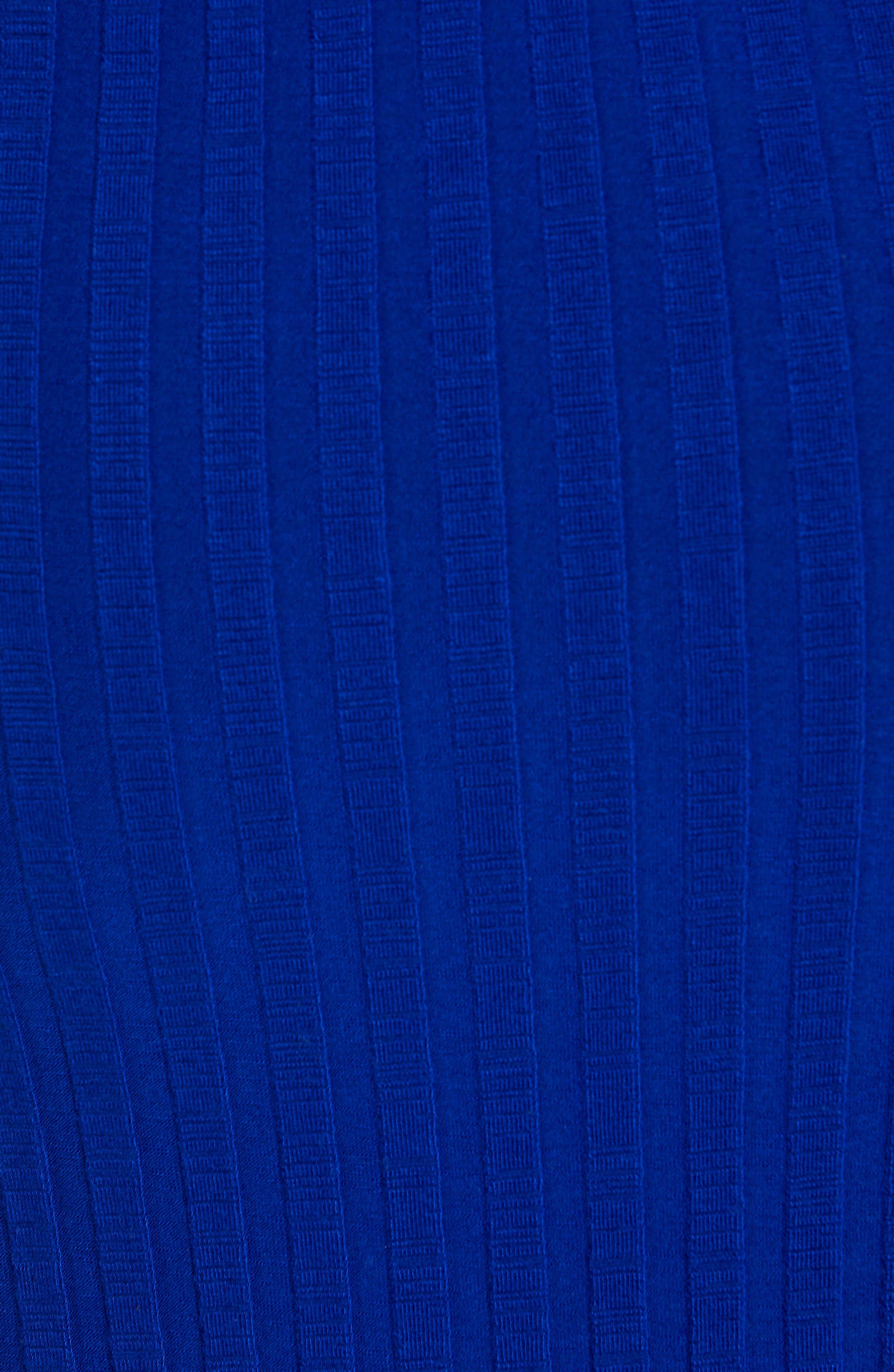 ,                             Matomi Rib Dress,                             Alternate thumbnail 5, color,                             ELECTRIC BLUE