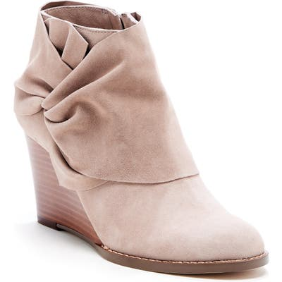 Sole Society Pegie Wedge Bootie, Beige