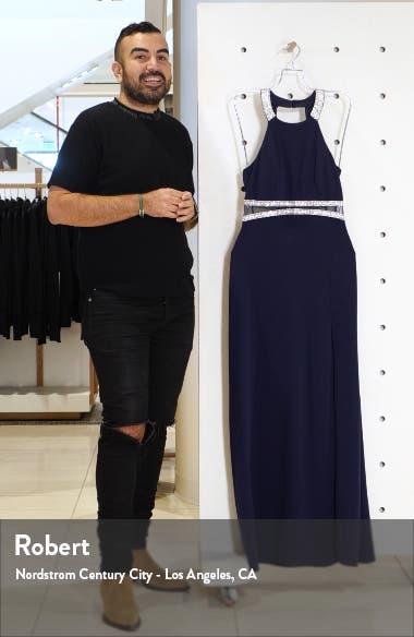 Embellished Halter Neck Gown, sales video thumbnail