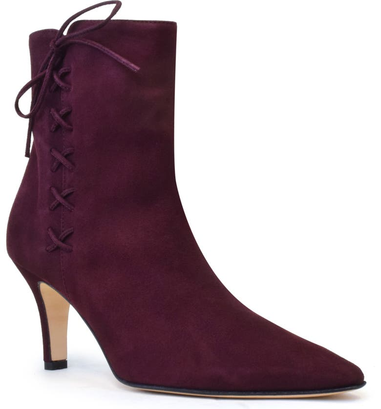 AMALFI BY RANGONI Isolde Pointed Toe Bootie, Main, color, BURGUNDY SUEDE