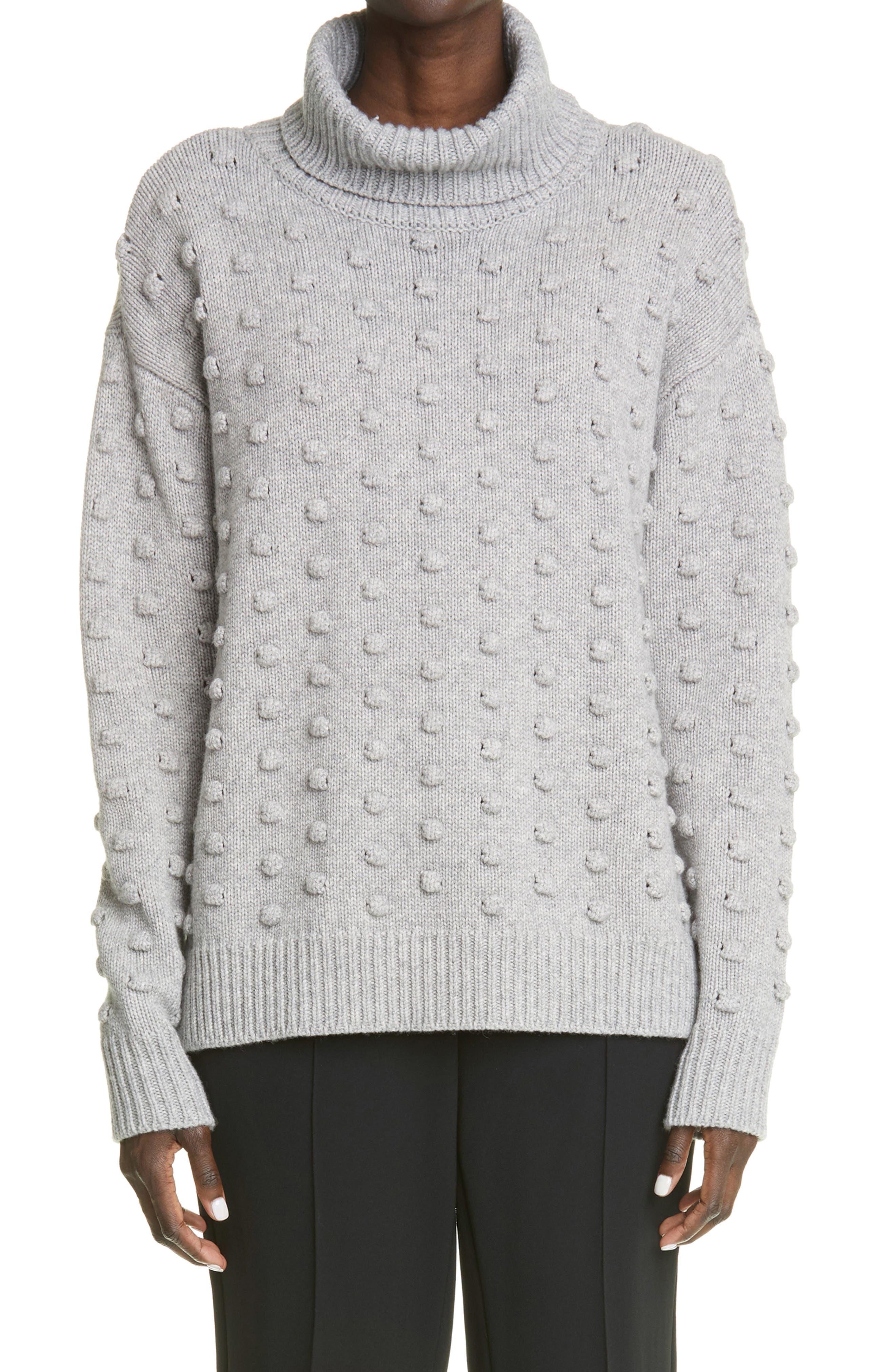 Popcorn Stitch Oversize Wool & Cashmere Sweater