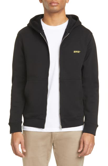 Affix Cottons LOGO EMBROIDERED COTTON ZIP HOODIE