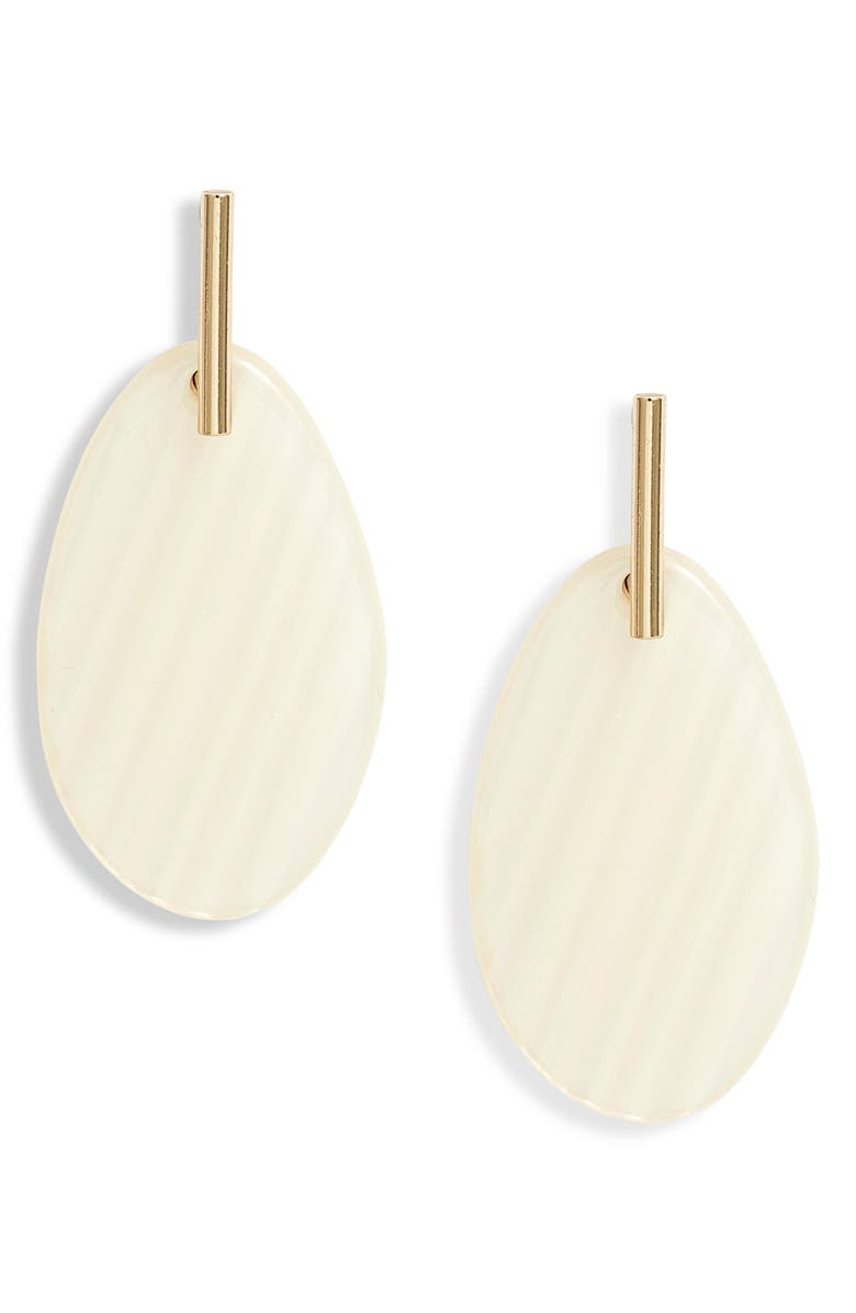 HALOGEN<SUP>®</SUP> Resin Drop Earrings, Main, color, WHITE- GOLD