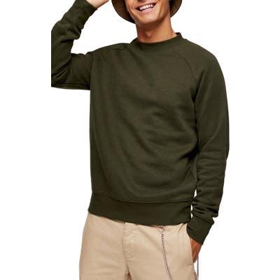 Topman Classic Crew Sweatshirt, Green