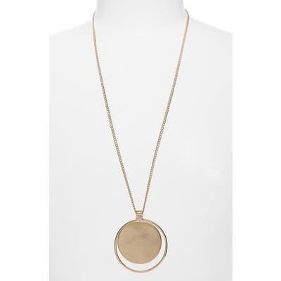 Bp. Oversize Disc Pendant Necklace