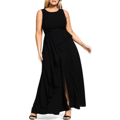 Plus Size City Chic Antilla Maxi Dress, Black