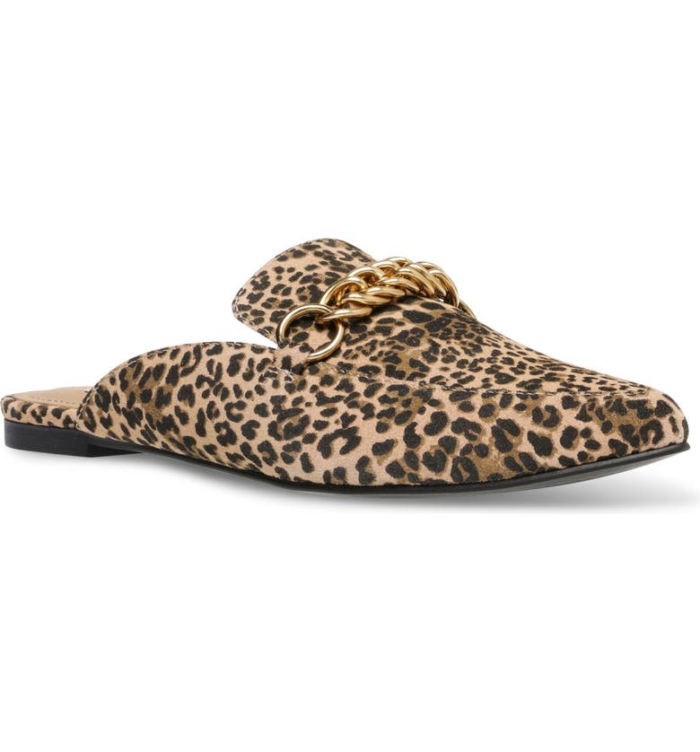 STEVE MADDEN Forever Chain Pointed Toe Mule, Main, color, LEOPARD PRINT
