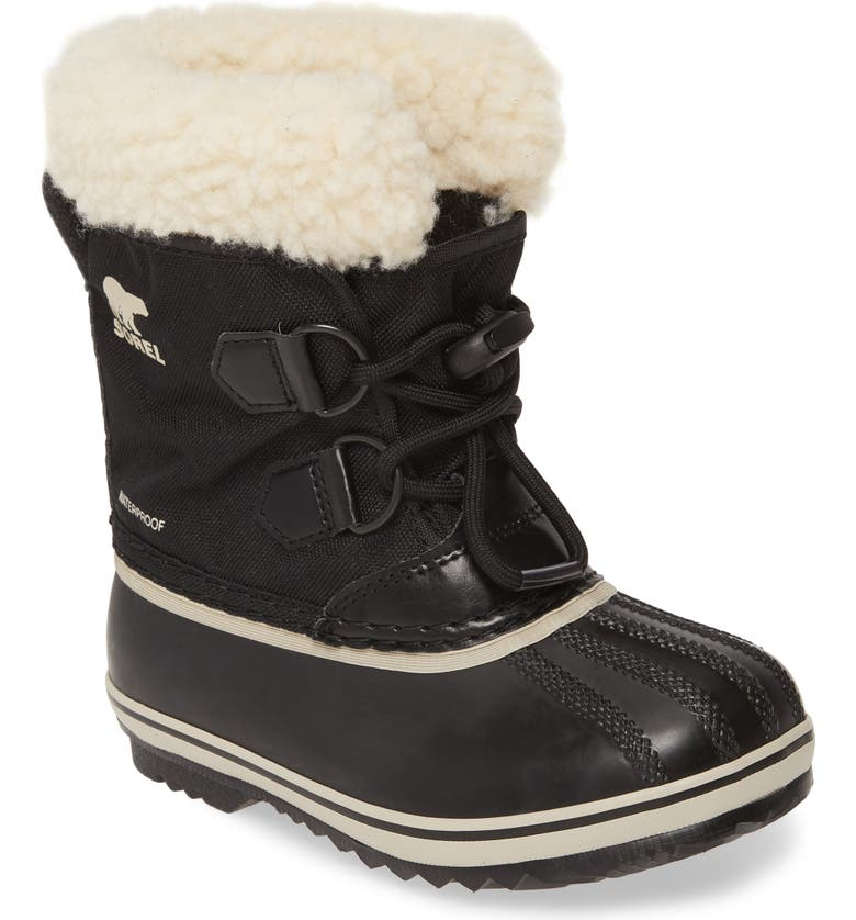 SOREL 'Yoot Pac' Waterproof Snow Boot, Main, color, BLACK MULTI