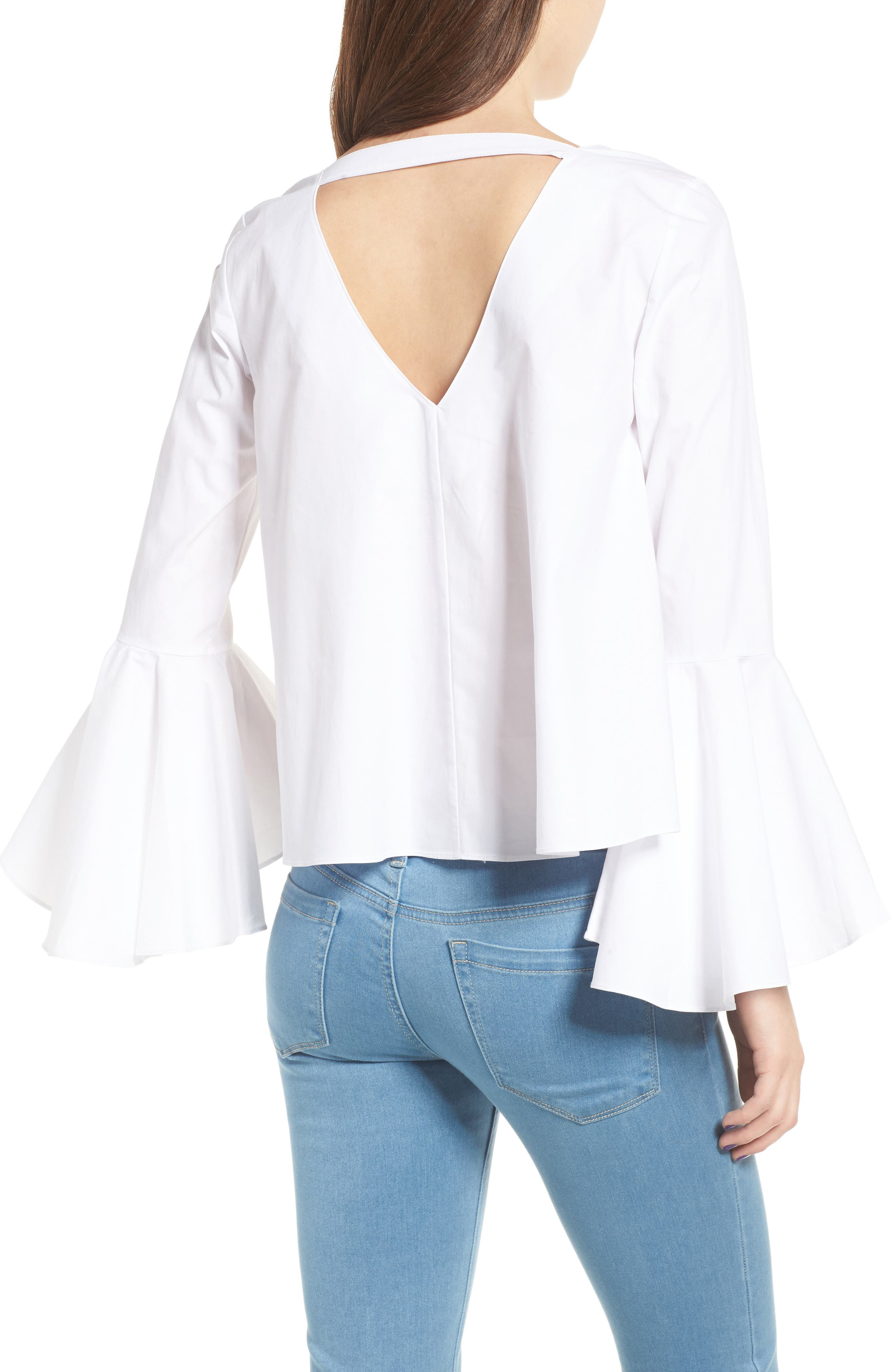 ,                             Bell Sleeve Top,                             Alternate thumbnail 2, color,                             100