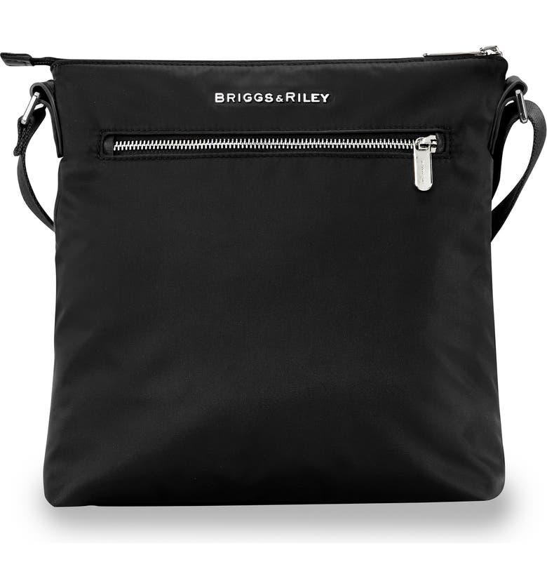 BRIGGS & RILEY Rhapsody Water Resistant Nylon Crossbody Bag, Main, color, BLACK