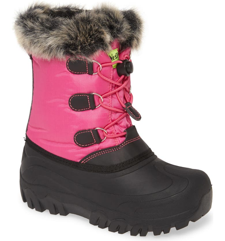 WESTERN CHIEF Arcterra Waterproof Faux Fur Snow Boot, Main, color, PINK