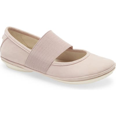 Camper Right Nina Leather Ballerina Flat, Pink