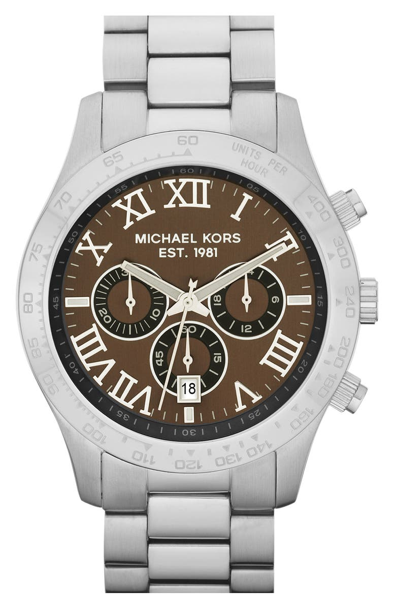 MICHAEL KORS 'Large Layton' Chronograph Watch, 45mm, Main, color, 040