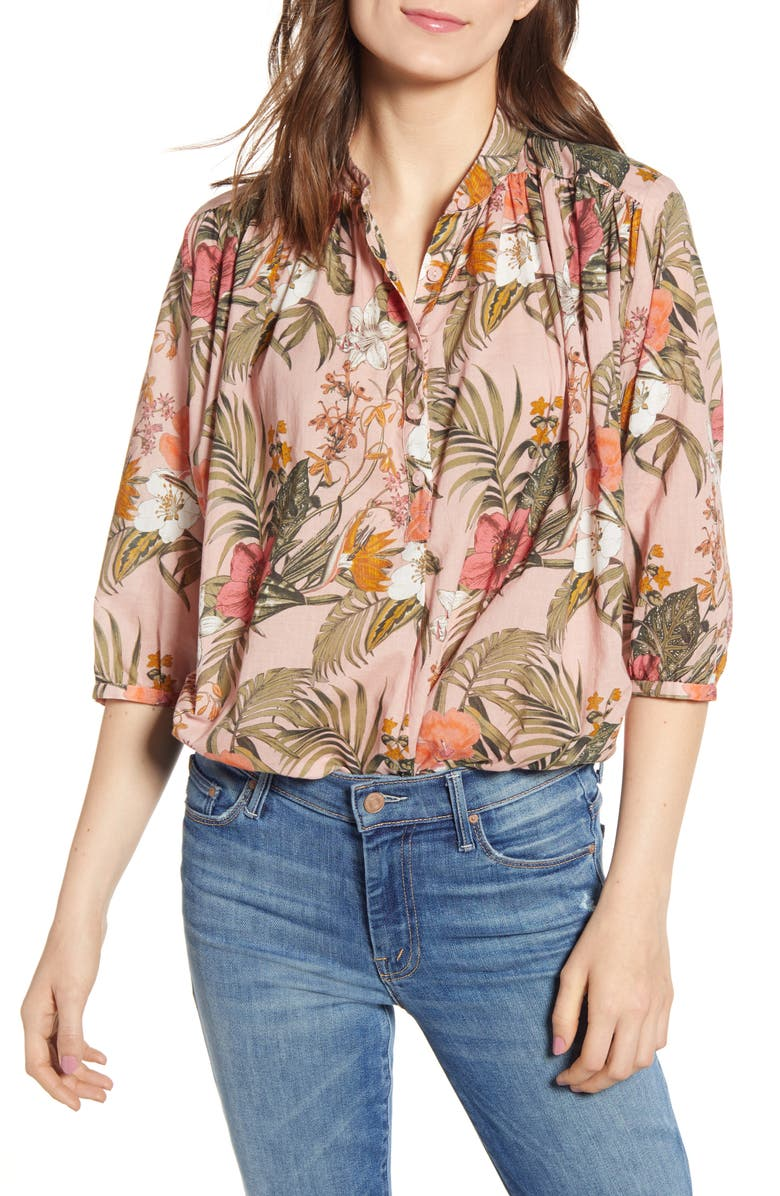 REBECCA MINKOFF Fleur Printed Shirt, Main, color, 950