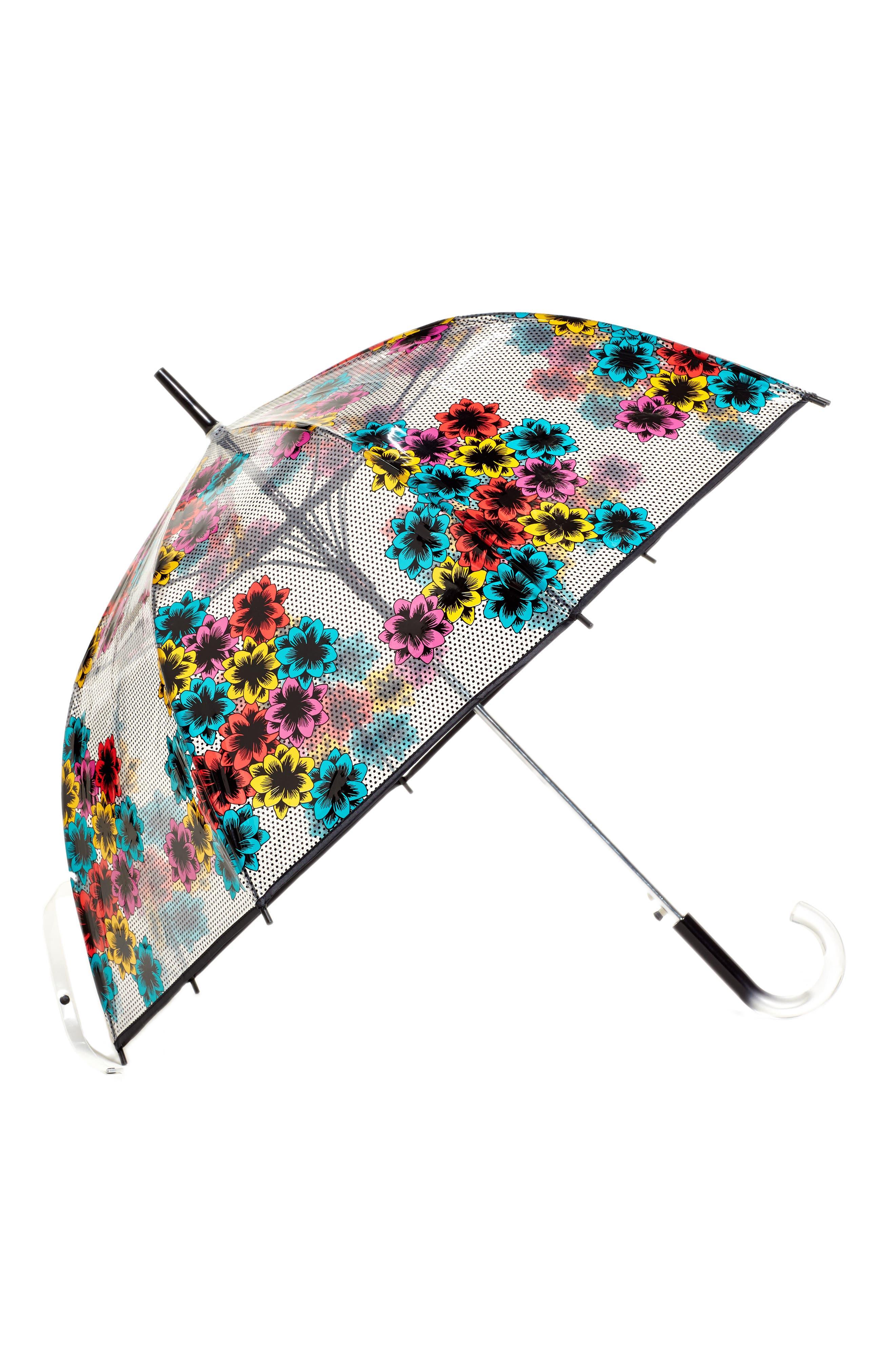 'The Bubble' Auto Open Stick Umbrella, Main, color, 002