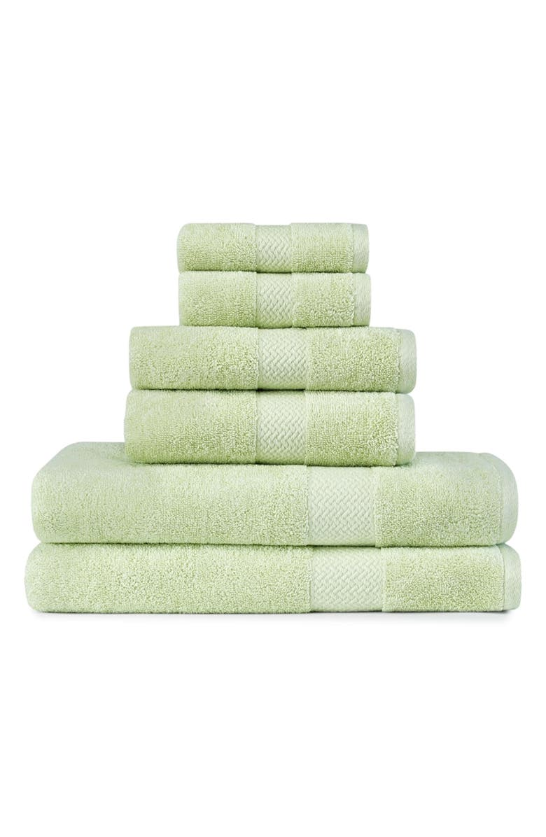 TOMMY BAHAMA Cypress Bay 6-Piece Towel Set, Main, color, KIWI