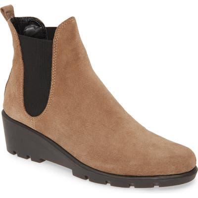 The Flexx Slimmer Chelsea Wedge Boot- Beige
