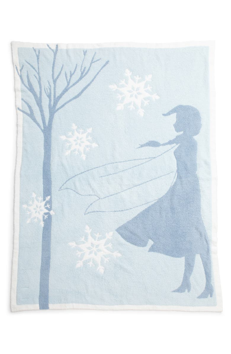 BAREFOOT DREAMS<SUP>®</SUP> CozyChic<sup>™</sup> Disney Frozen Blanket, Main, color, ICE BLUE MULTI