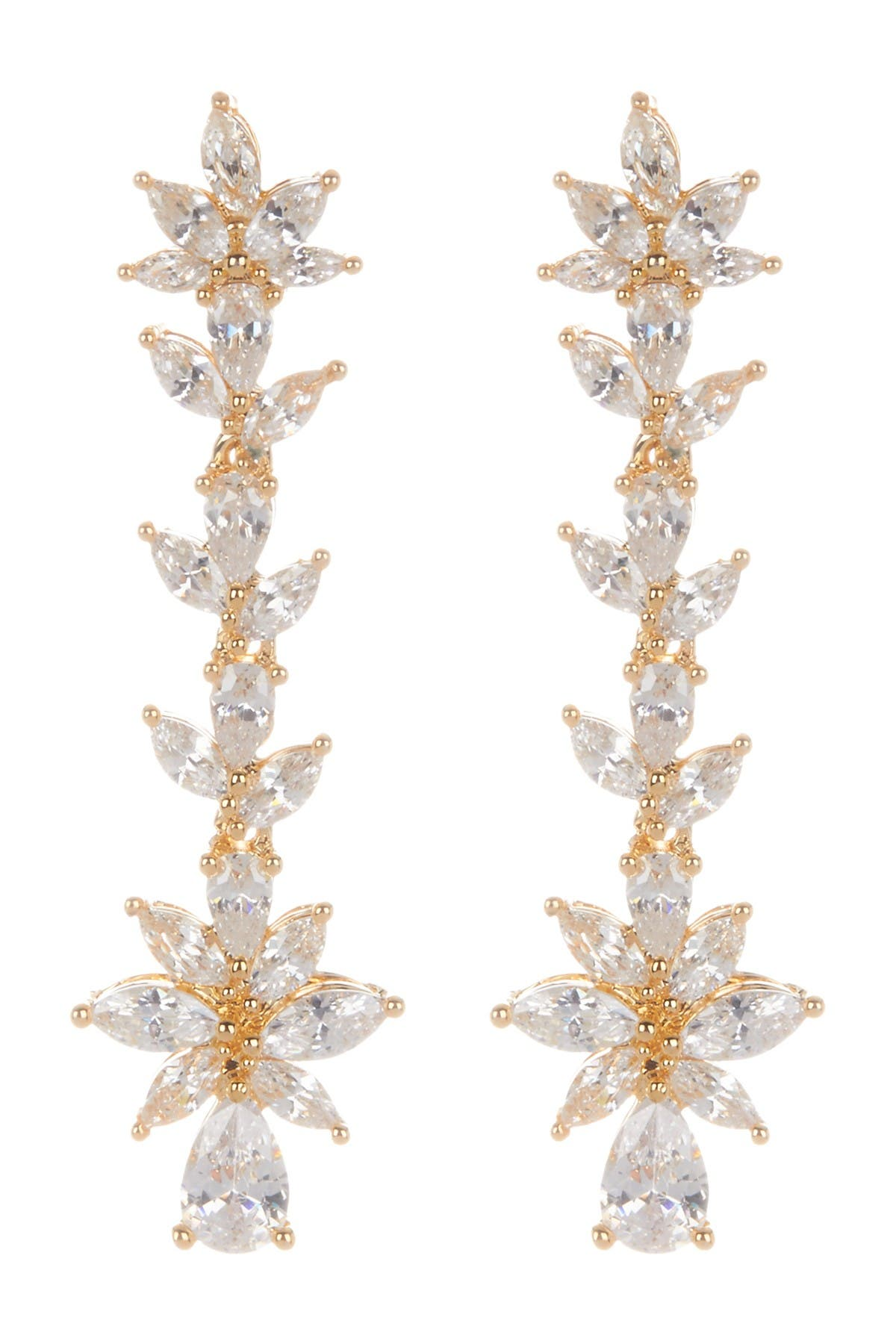 Image of Nordstrom Rack Ornate CZ Linear Dangle Earrings