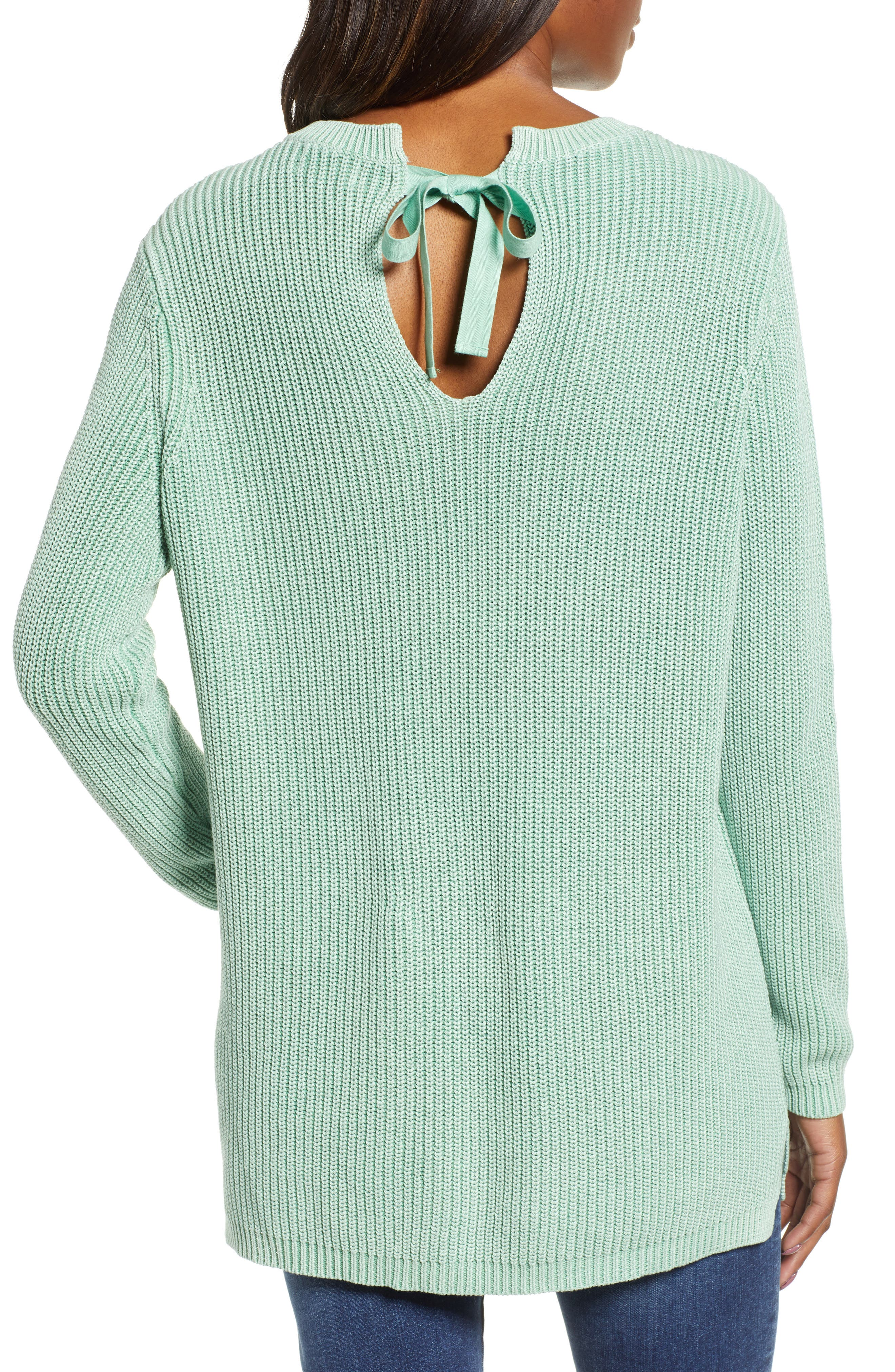 ,                             Tie Back Tunic Sweater,                             Alternate thumbnail 14, color,                             330
