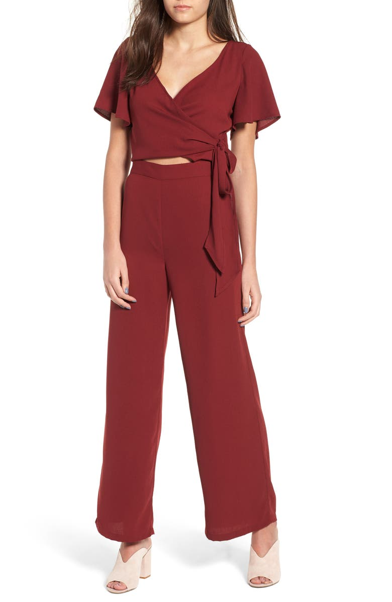 LEITH Surplice Jumpsuit, Main, color, 601