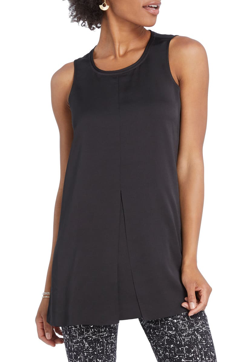 NIC+ZOE Central Tank Top, Main, color, BLACK ONYX