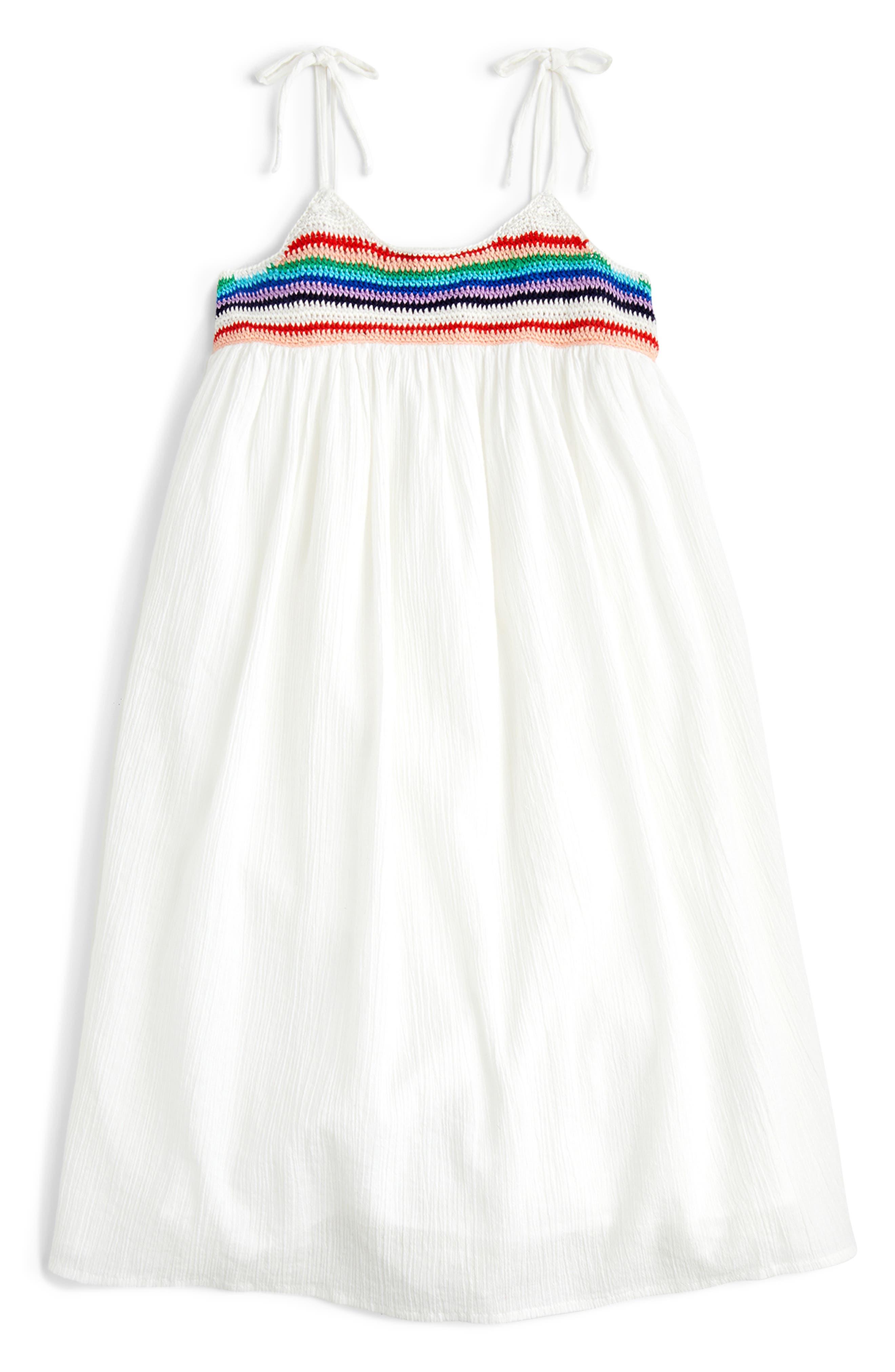 Girls Crewcuts By Jcrew Tie Shoulder Dress Size 6  White