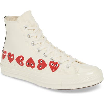 Comme Des Garcons Play Multiheart Sneaker, White
