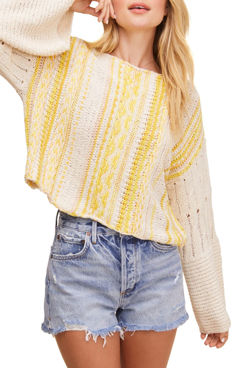ASTR THE LABEL Thora Crop Sweater, Main, color, 722