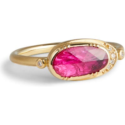 Brooke Gregson Ellipse Halo Ruby Ring