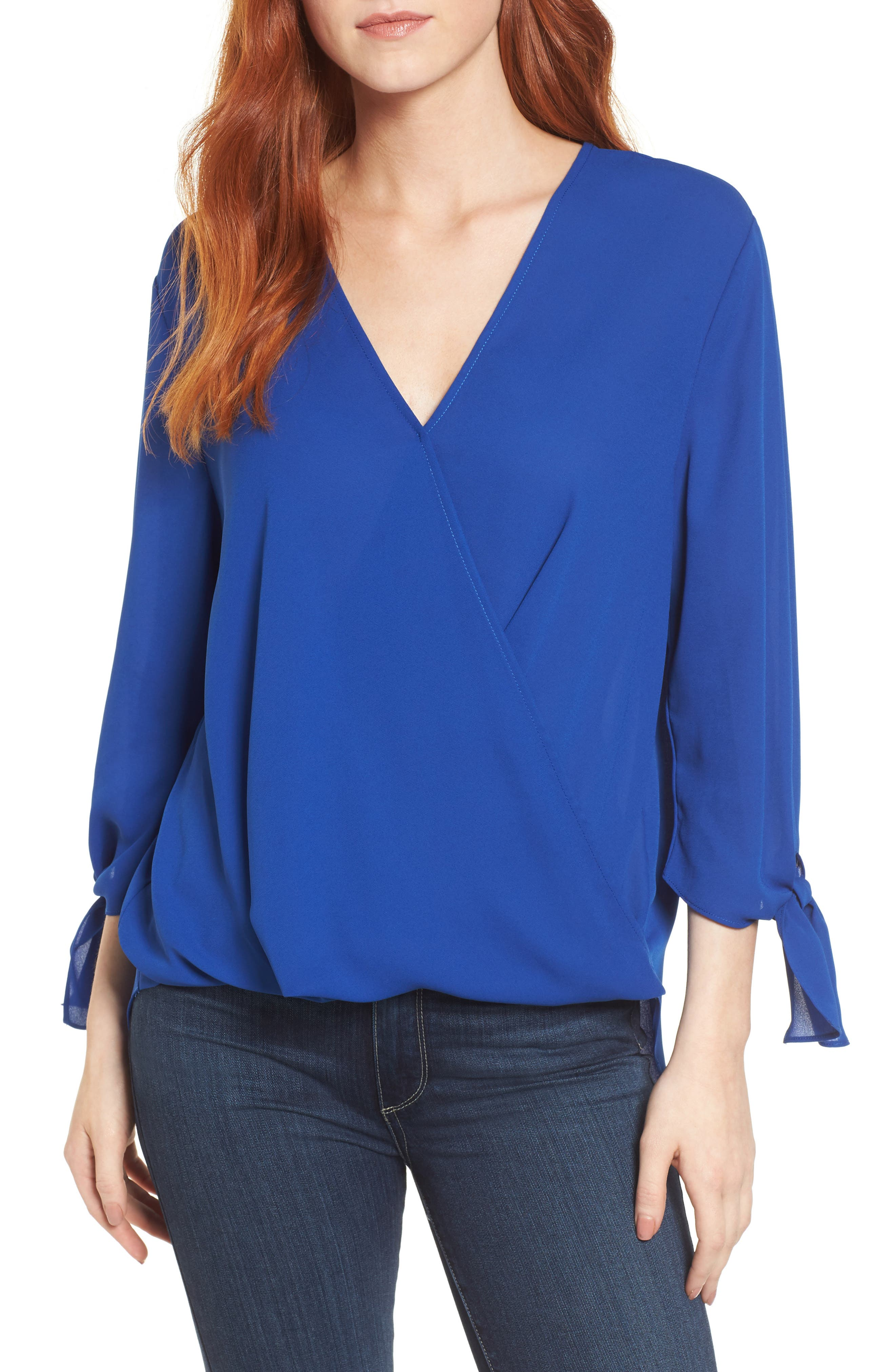 ,                             Surplice Neck Top,                             Main thumbnail 19, color,                             405
