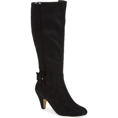 Bella Vita Troy Knee High Buckle Boot, Black