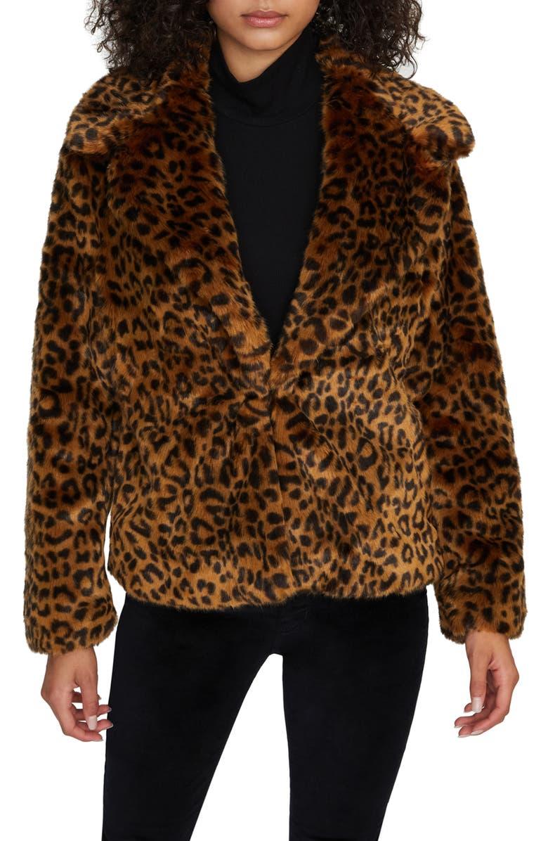 SANCTUARY Wild Faux Fur Jacket, Main, color, LEOPARD