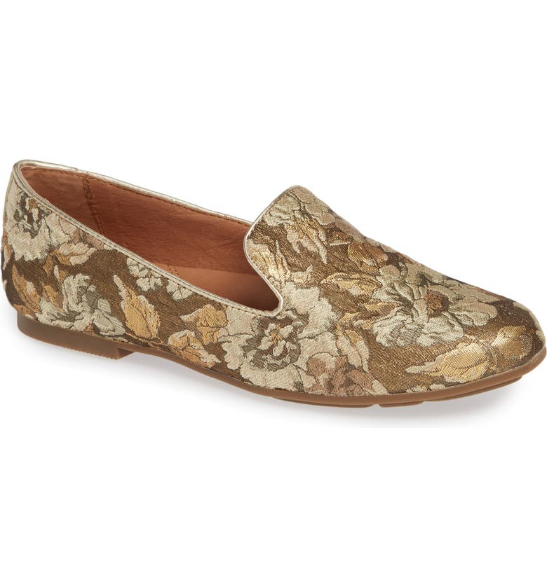GENTLE SOULS BY KENNETH COLE Eugene Flat, Main, color, GOLD MULTI FABRIC