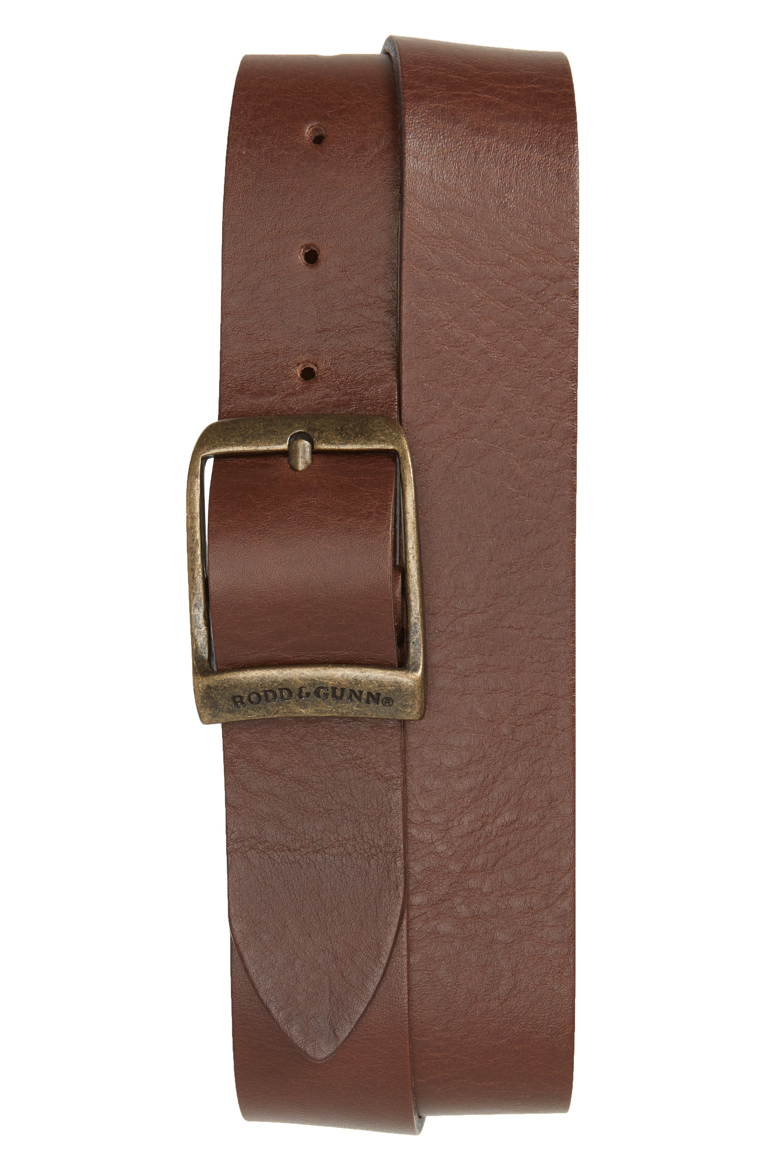 Rodd & Gunn Cornonet Crescent Leather Belt, Mud