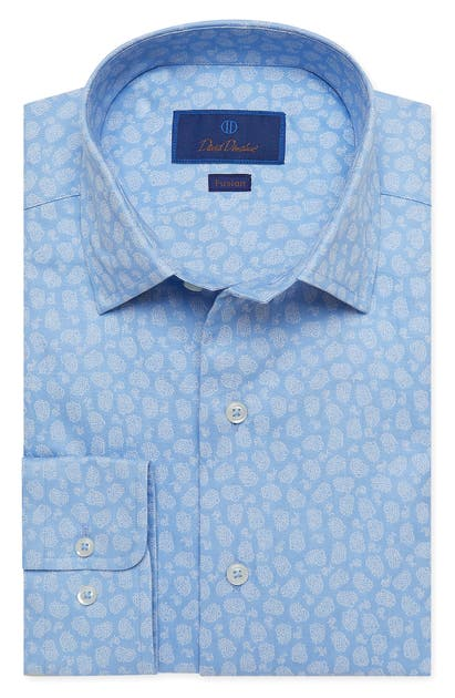 David Donahue FUSION PAISLEY DRESS SHIRT