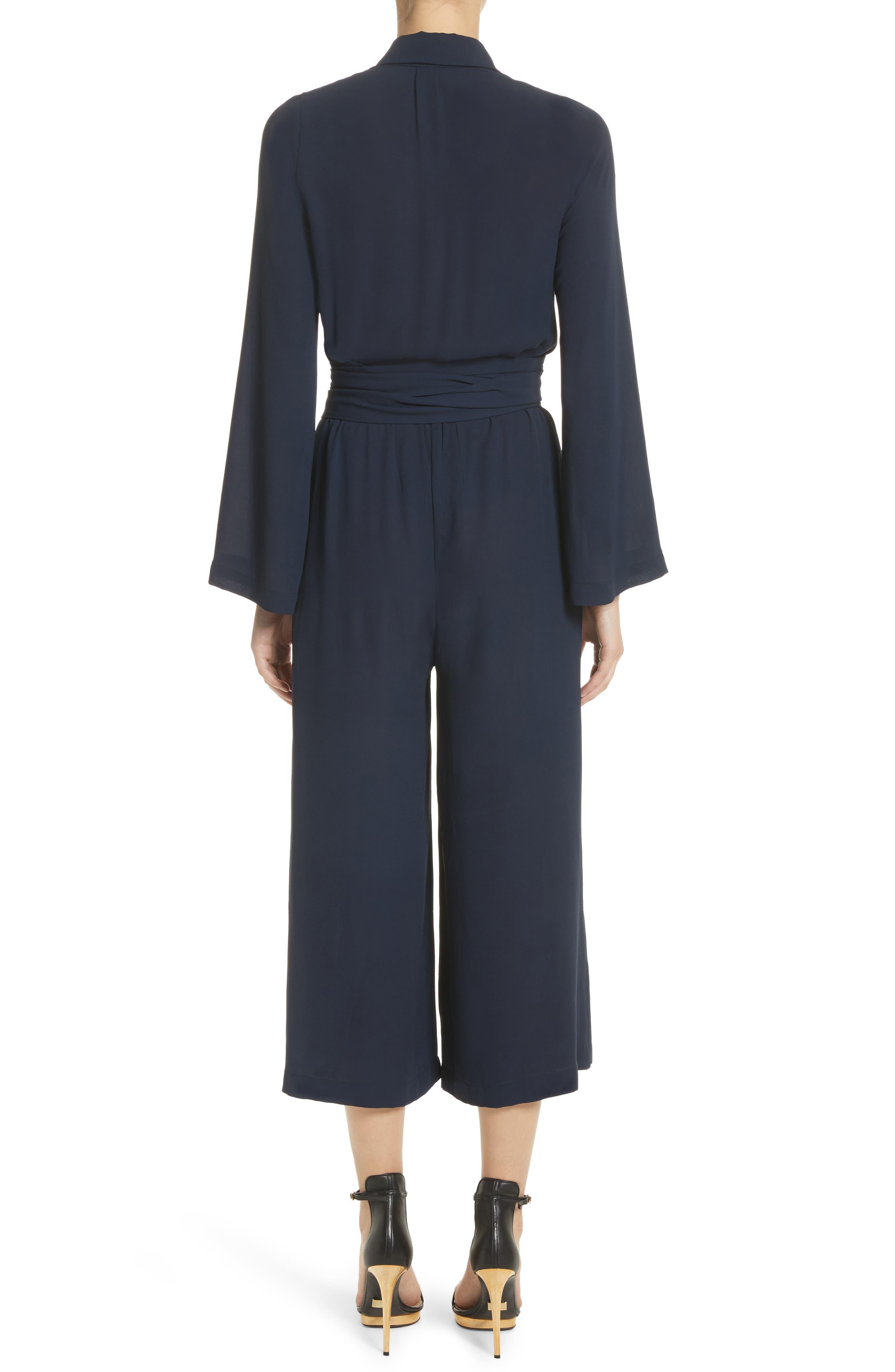 ,                             Belted Silk Jumpsuit,                             Alternate thumbnail 2, color,                             478