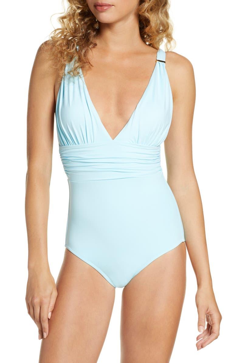 MELISSA ODABASH Panarea One-Piece Swimsuit, Main, color, SKY