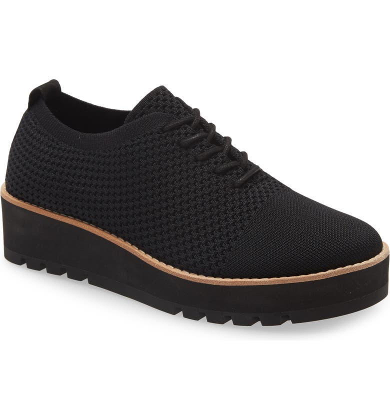 EILEEN FISHER Eddy 2 Knit Oxford, Main, color, BLACK KNIT